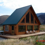 mountain view cabin with cottage, west yellowstone, montana