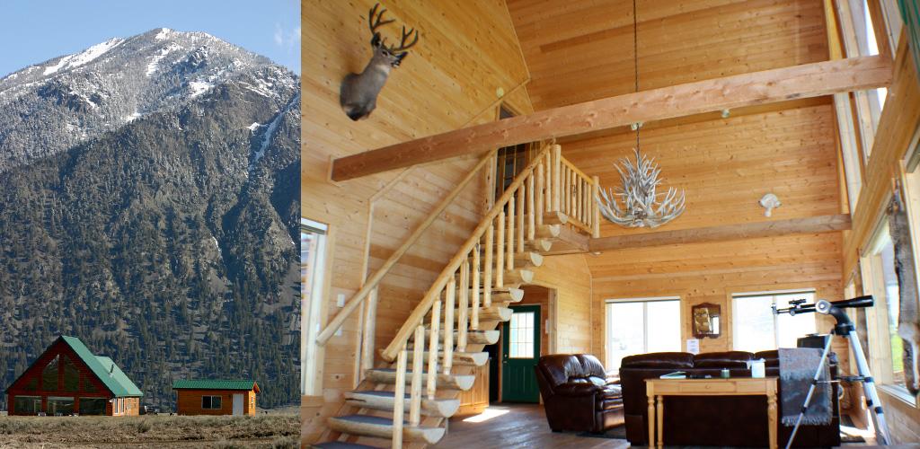 mountain view cabin - montana cabins