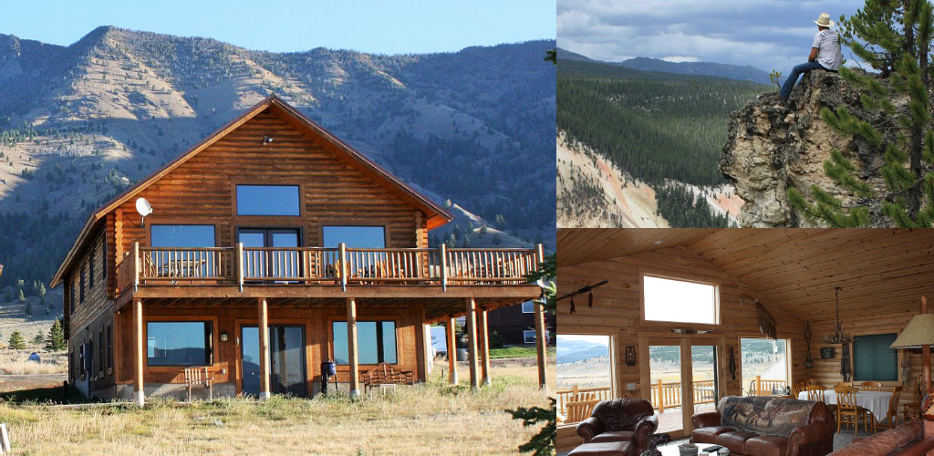 Elk lake lodge montana cabins montana cabin rentals in Yellowstone log cabin hotel